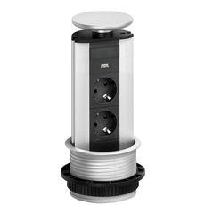 Image of   Evoline Powerport 2 stik + 1 usb charger