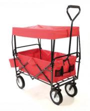 DB-trækvogn med tag rød01