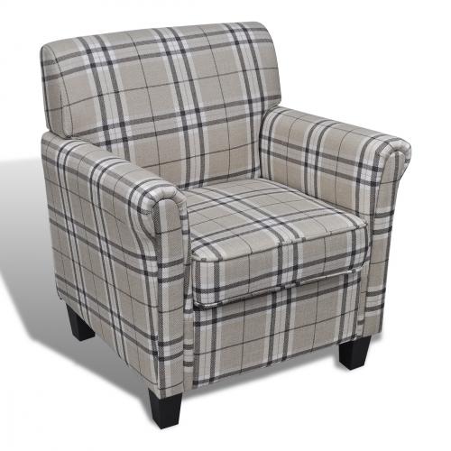 Lænestol klassisk stil lyse farver - Dagensbolig