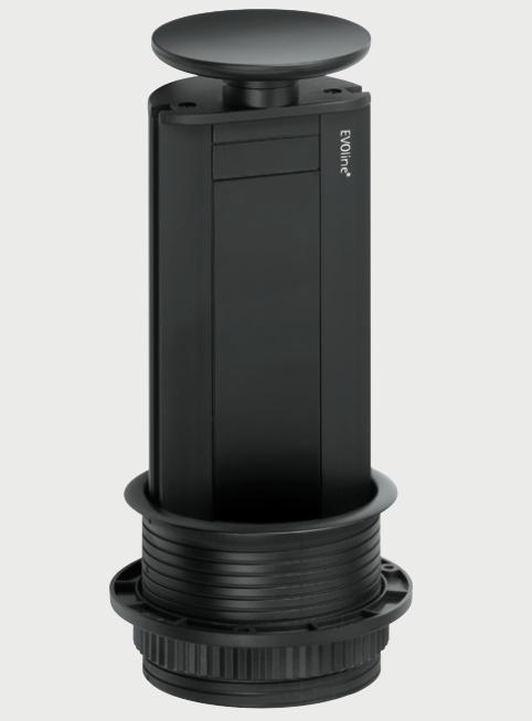 Image of   Evoline Powerport sort kabinet + top