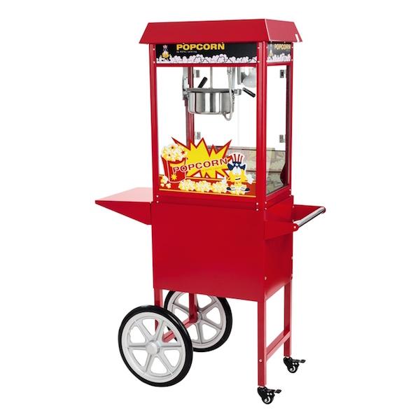 Popcornmaskine professionel 1600w 8 oz med vogn fra N/A fra dagensbolig.dk