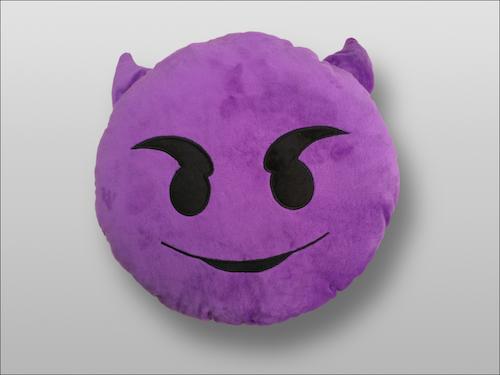 Image of   Emoji Smiley puder (Devil)