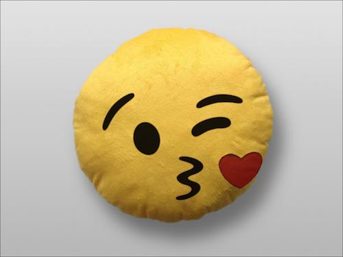 Image of   Emoji Smiley puder (Kissing)