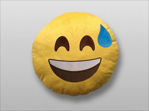 Image of   Emoji Smiley puder (Sweat)
