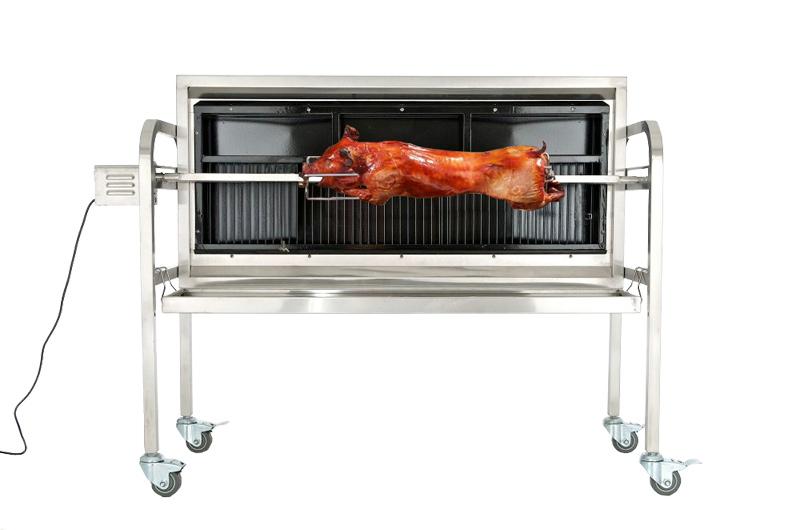 Rustfri grill til helstegt pattegris luksus model dagens bolig - Barbecue gaz avec rotissoire ...