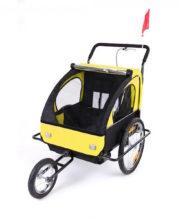 DB-Cykeltrailer Gul med sort ramme00