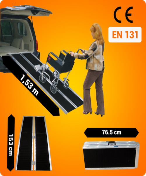 Kørestolsrampe 153 cm ekstra skrid sikker fra N/A fra dagensbolig.dk