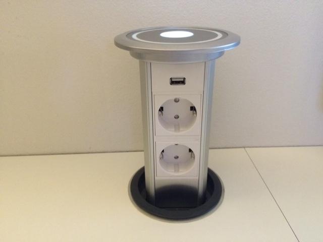 Image of   Fuldautomatisk pop up stikkontakt