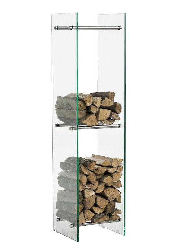 Image of   Brændereol model Dacio V3 klarglas 35 x 35 x 160 cm