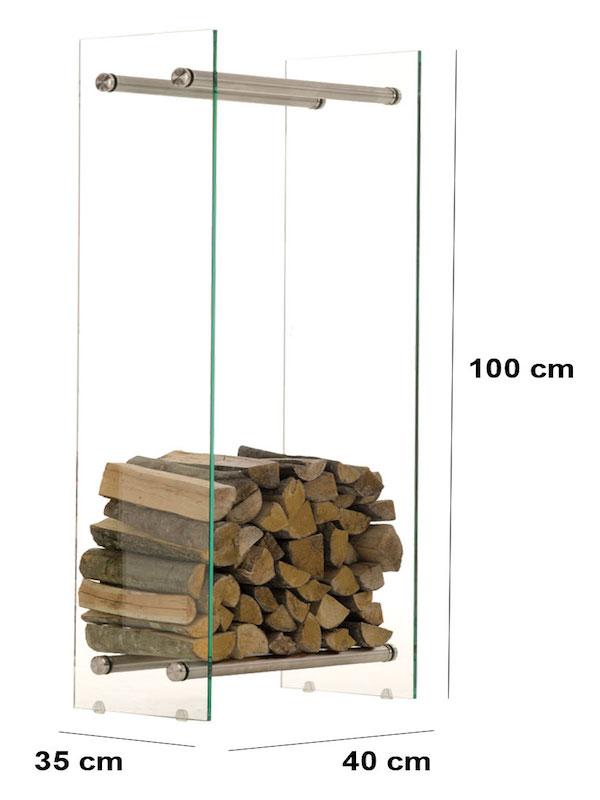 Image of   Brændereol model Dacio V3 klarglas 35 x 40 x 100 cm