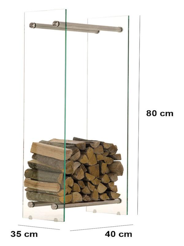 Image of   Brændereol model Dacio V3 klarglas 35 x 40 x 80 cm