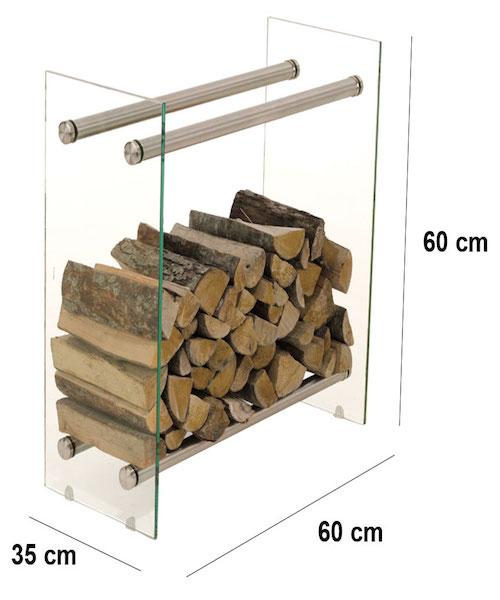 Image of   Brændereol model Dacio V3 klarglas 35 x 60 x 60 cm