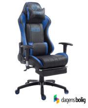Gamer kontorstol Blå:Sort med fodstøtte PU-Læder_1925907101_DagensBolig