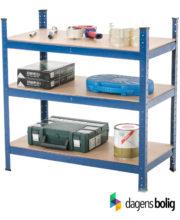 Lagerreol metal blå 90 x 45 x 90 cm