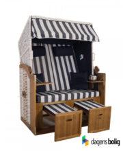 Strandkurv model Anholt - 2 sæder - Hvid - e-11349 - Blå blokstriber_dagensbolig_TITEL