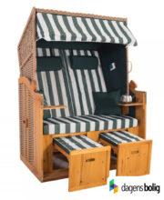 Strandkurv model Anholt - 2 sæder - Natur - e-11333 - Grøn blokstriber_dagensbolig_TITEL