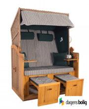 Strandkurv model Anholt - 2 sæder - Natur - e-11336 - Grøn-Grå strimmel_dagensbolig_TITEL
