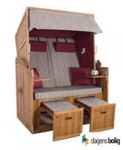 Strandkurv model Anholt - 2 sæder - Natur - e-11343 - Rød-Grå strimmel_dagensbolig_TITEL
